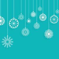 Kerst sneeuwvlokken achtergrond vector