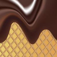 vector achtergrondafbeelding die de vloeibare chocolademassa met hagelslag illustreert