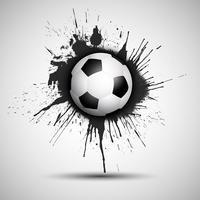 Grunge voetbal of voetbal bal achtergrond vector