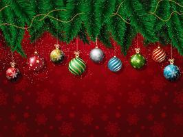 Kerstmissnuisterijen achtergrond vector