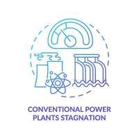 conventionele energiecentrales stagnatie concept pictogram vector