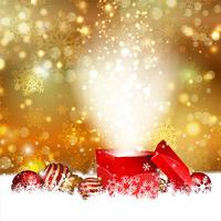 Kerst cadeau achtergrond vector