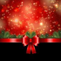 Kerst lint achtergrond vector