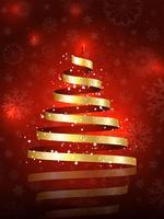 Kerstboom achtergrond vector