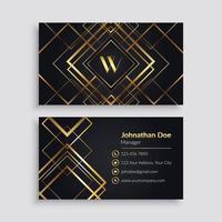 elegante gouden geometrische visitekaartjesjabloon vector