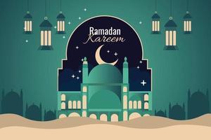 ramadan kareem traditionele islamitische festival religieus vector