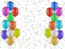 Confetti en ballonnen vector