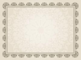 Decoratieve certificaatachtergrond vector