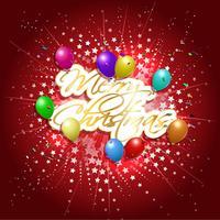 Vrolijk kerstfeest achtergrond vector