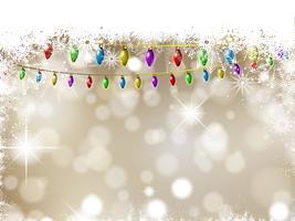 Kerstverlichting achtergrond vector