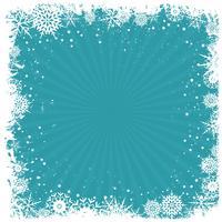 Grunge sneeuwvlok achtergrond vector