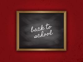Terug naar schoolbord vector