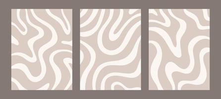 esthetische eigentijdse sjablonen met organische abstracte vormen en lijnen in nude kleuren. pastel boho achtergrond in minimalistische halverwege de eeuw stijl vectorillustratie vector