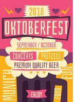 Oktoberfest-flyer vector