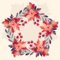 Aquarel herfst krans vector