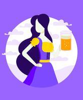 Lady In Dirndl illustratie vector