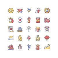 china rgb kleur iconen set vector