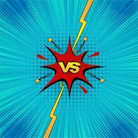 Tegenover vecht achtergronden comics kleurrijke ontwerp vector