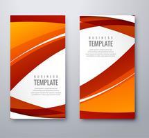 Abstracte coloful golvende banners geplaatst vectorillustratie