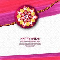 illustratie van de wenskaart met decoratieve Rakhi voor Raksha B. vector