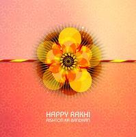 Abstract voor Happy Raksha Bandhan met leuke en creatieve kleuren vector
