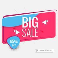 Abstracte kleurrijke grote verkoopvector als achtergrond vector