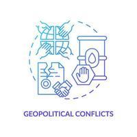 geopolitieke conflicten concept pictogram vector
