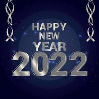 gelukkig nieuwjaarsviering wenskaart met creatief teksteffect op mooie achtergrond vector