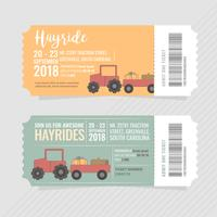 Vector Hayrides-kaartjes