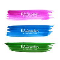 Hand getrokken aquarel lijn kleurrijke schaduw achtergrond vector
