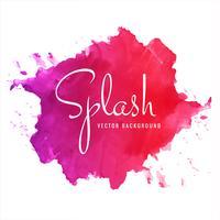 Abstracte hand getekend kleurrijke zachte aquarel splash achtergrond vector