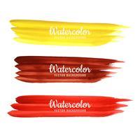 Abstract kleurrijk waterverfslagen vastgesteld ontwerp vector