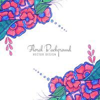 Moderne decoratieve creatieve huwelijks kleurrijke bloemenachtergrond vector