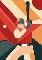 Speel bij Baseball Park vector