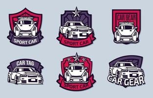 sportwagen logo collecties vector