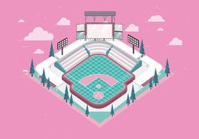 3D Honkbalpark vector