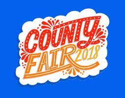 County Fair belettering