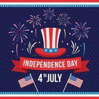 vierde van juli onafhankelijkheidsdag achtergrond vector