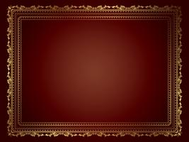 Decoratief gouden frame vector