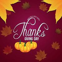 happy thanksgiving viering platte ontwerpconcept vector