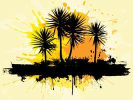 grunge palmbomen vector