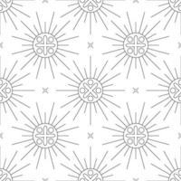 zwart-wit naadloze patroon geometrische sieraad vector