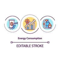 energieverbruik concept pictogram vector