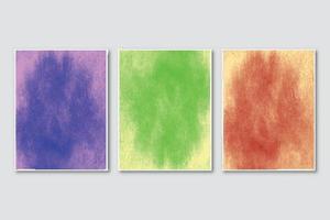 bruiloft uitnodiging set met creatieve minimalistische handgeschilderde abstracte aquarel achtergrond vector