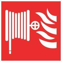 brandslanghaspel symbool teken vector