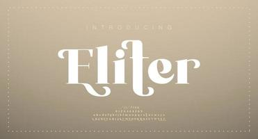 elegante luxe alfabet letters lettertype. klassieke belettering minimale moderne modeontwerpen. typografie modern serif-lettertype vector