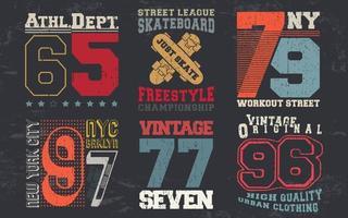 vintage designprint voor t-shirtzegel, tee-applique, modetypografie, badge, labelkleding, jeans en vrijetijdskleding. vector illustratie