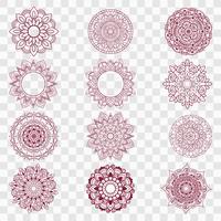 Moderne mandala-ontwerpen ingesteld vector