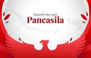 pancasila dag achtergrond vector