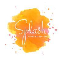 Splash kleurrijke aquarel slag vector